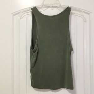 American Eagle Outfitters Tops - AE ESSENTIALS OLIVE GREEN TANK